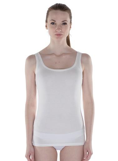 Hays Kadın Modal Kalın Asklı Atlet Beyaz